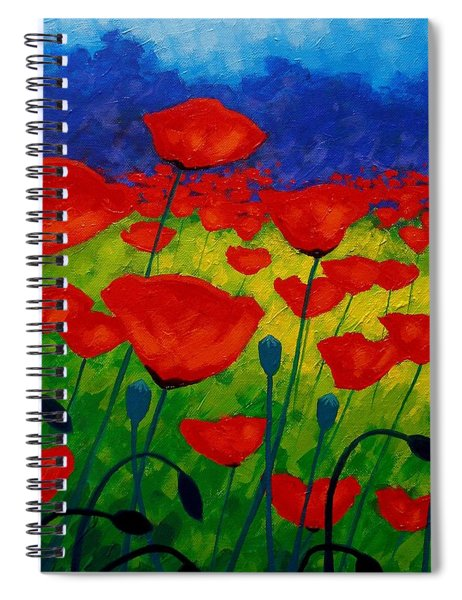 Poppy Corner II Spiral Notebook