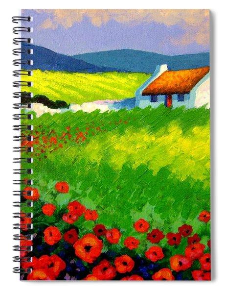 Poppy Field - Ireland Spiral Notebook