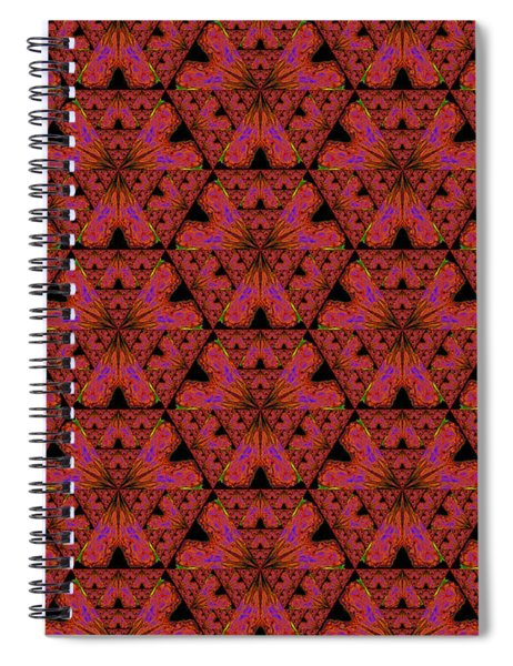 Poppy Sierpinski Triangle Fractal Spiral Notebook