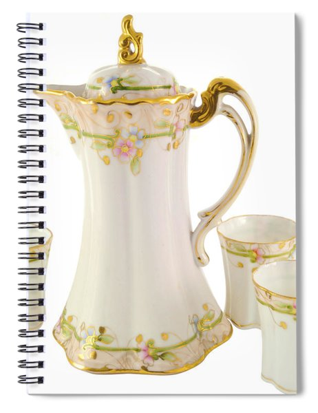 Porcelain Pitcher And Cups Spiral Notebook