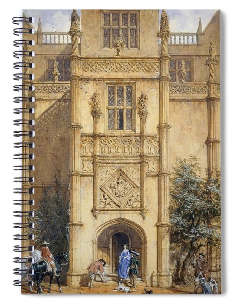 Porch At Montacute, 1842 Spiral Notebook