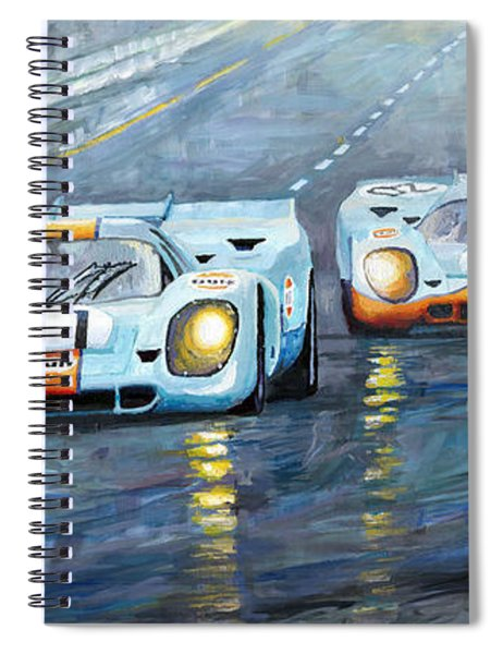 Porsche 917 K Gulf Spa Francorchamps 1971 Spiral Notebook