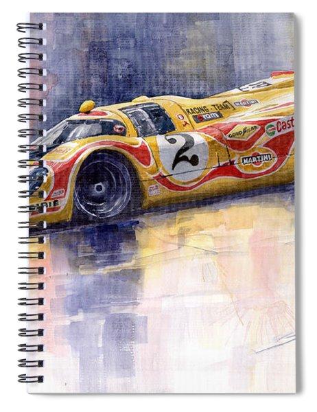 Porsche 917 K Martini Kyalami 1970 Spiral Notebook