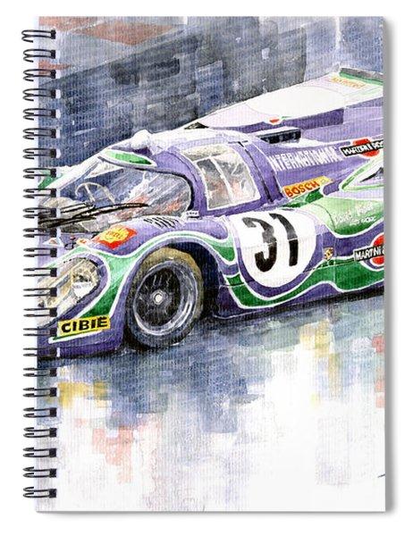Porsche 917 K Martini Racing 1970 Spiral Notebook