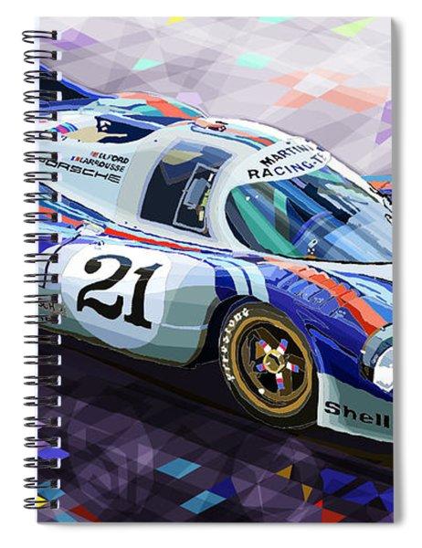Porsche 917 Lh Larrousse Elford 24 Le Mans 1971 Spiral Notebook