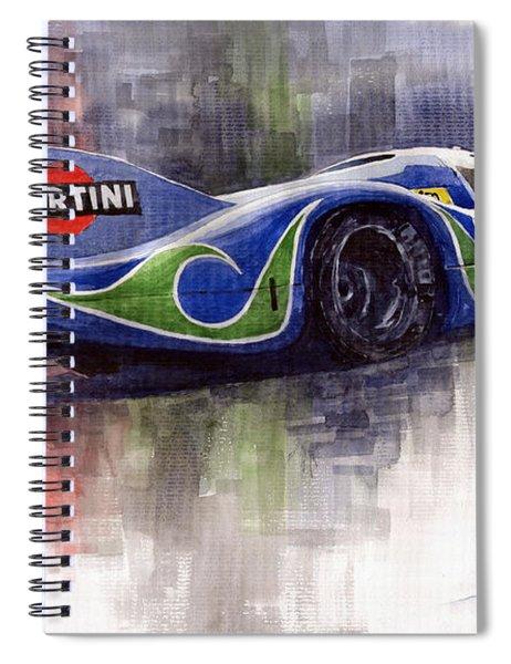 Porsche 917 Psychodelic  Spiral Notebook