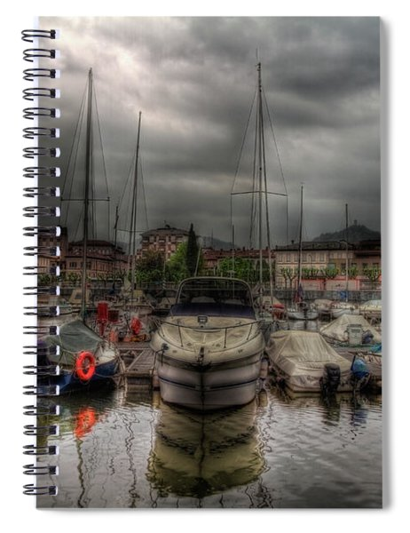 Port At Como Lake Spiral Notebook