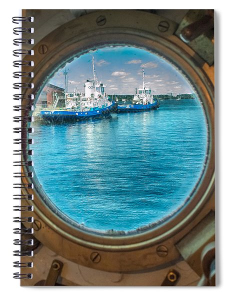 Spiral Notebook featuring the photograph Hmcs Haida Porthole  by Garvin Hunter
