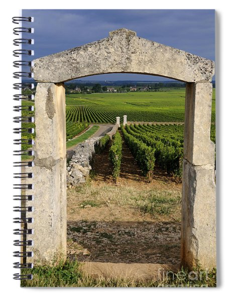 Portal  Of Vineyard.burgundy. France Spiral Notebook