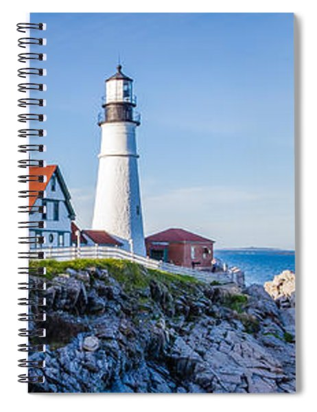 Spiral Notebook featuring the photograph Portland Head Light House Cape Elizabeth Maine by Robert Bellomy