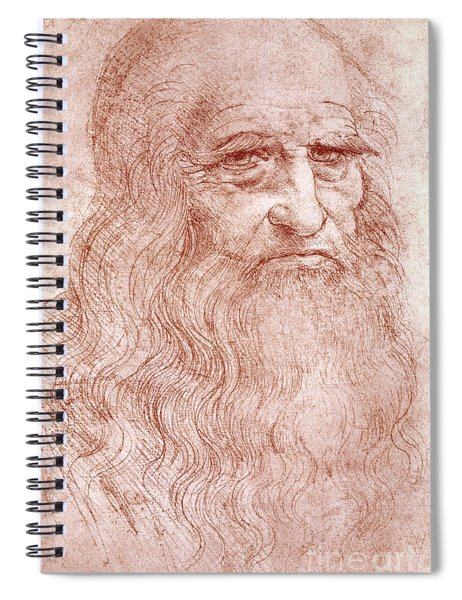 Portrait Of A Bearded Man Spiral Notebook