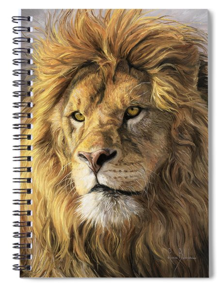Portrait Of A Lion Spiral Notebook