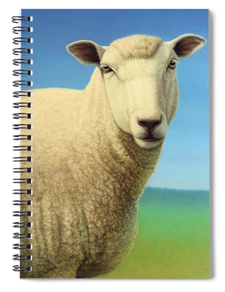 Portrait Of A Sheep Spiral Notebook