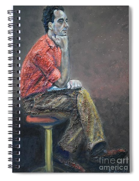 Portrait Of Ali Akrei - The Painter Spiral Notebook