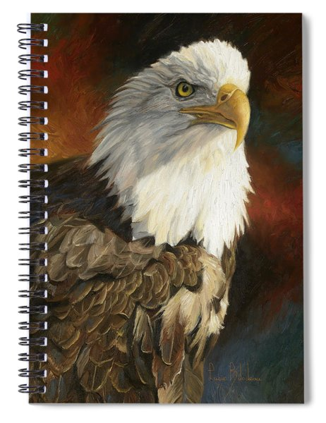 Portrait Of An Eagle Spiral Notebook
