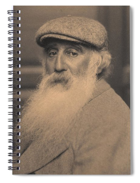 Portrait Of Camille Pissarro 1830-1903 Bw Photo Spiral Notebook