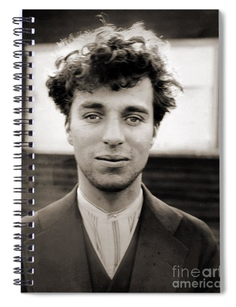 Portrait Of Charlie Chaplain Spiral Notebook