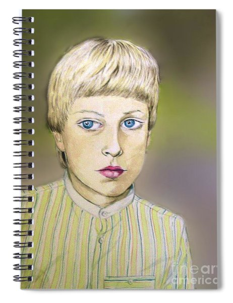 Portrait Of Justin Age 9 Spiral Notebook