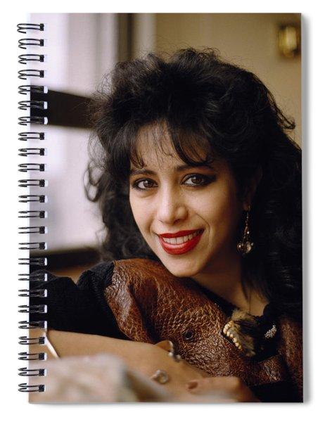 Portrait Of Ofra Haza Spiral Notebook