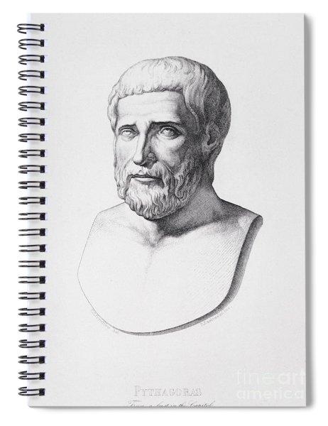 Portrait Of Pythagoras Spiral Notebook