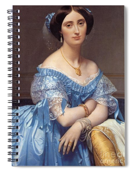 Portrait Of The Princesse De Broglie Spiral Notebook