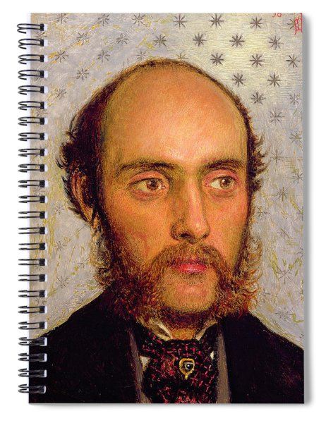 Portrait Of William Michael Rossetti 1829-1919 By Lamplight, 1856 Panel Spiral Notebook