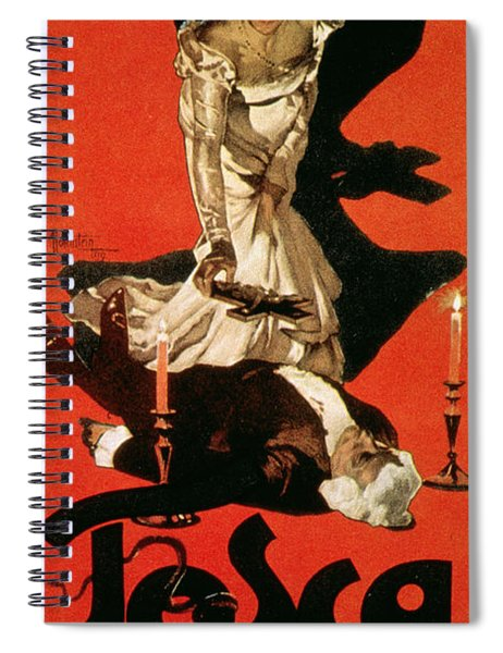 Poster Advertising A Performance Of Tosca Spiral Notebook