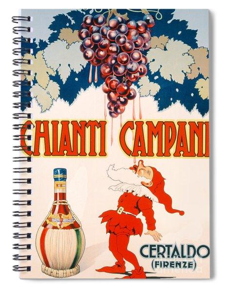Poster Advertising Chianti Campani Spiral Notebook