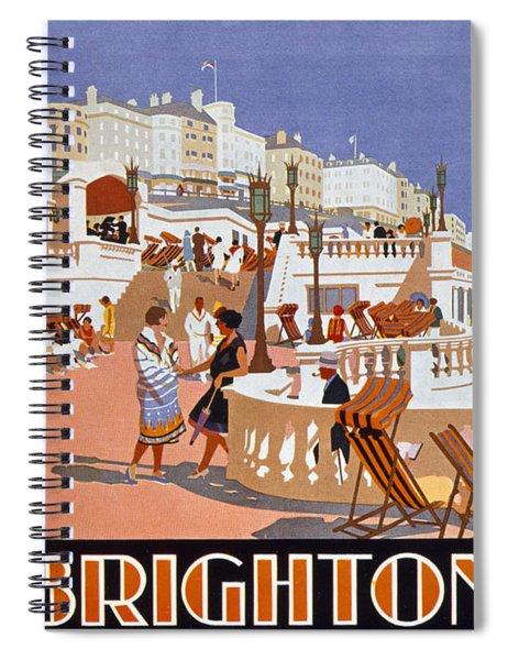 Poster Advertising Travel To Brighton Spiral Notebook