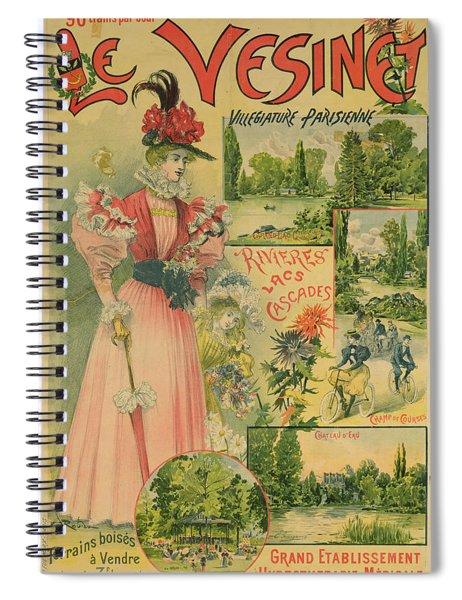 Poster For The Chemins De Fer De Louest To Le Vesinet Spiral Notebook