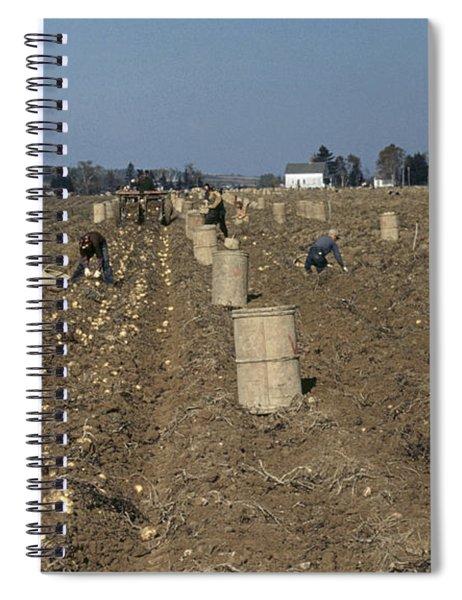 Potato Harvest, 1940 Spiral Notebook