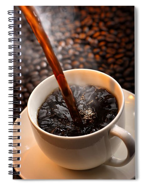 Pouring Coffee Spiral Notebook
