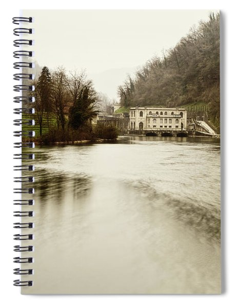 Power Plant On River Spiral Notebook