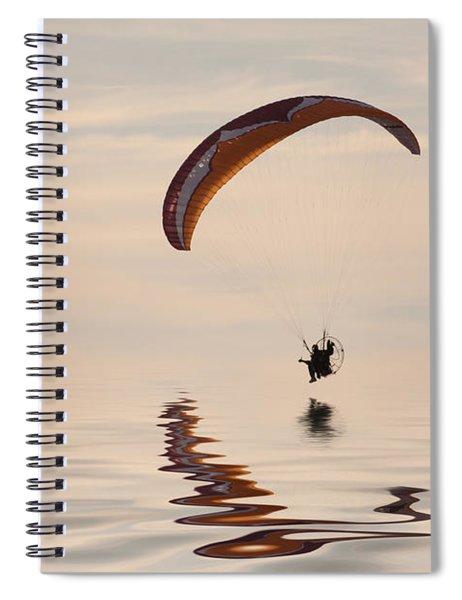Powered Paraglider Spiral Notebook