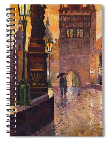 Prague Charles Bridge 01 Spiral Notebook