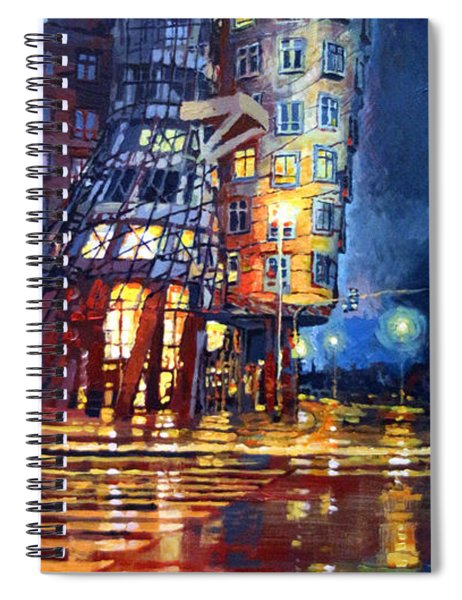 Prague Dancing House  Spiral Notebook