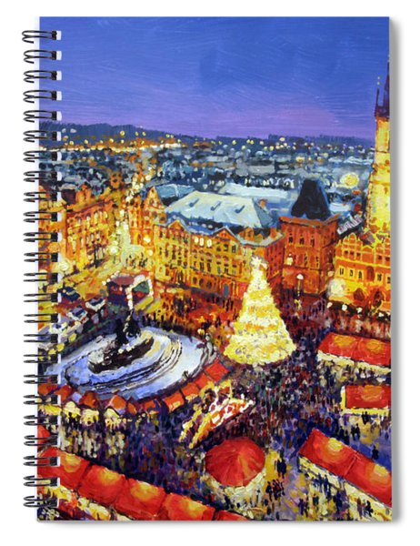 Prague Old Town Square Christmas Market 2014 Spiral Notebook