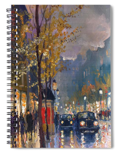 Prague Old Vaclavske Square 01 Spiral Notebook