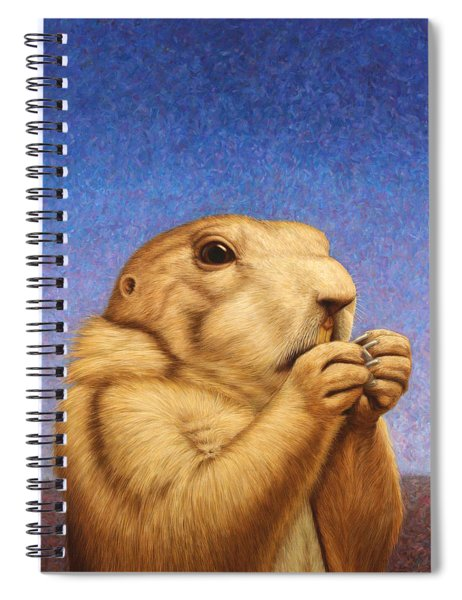 Spiral Notebook featuring the painting Prairie Dog by James W Johnson