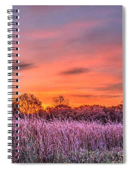 Moraine Hills State Park Moments Before Sunrise Spiral Notebook
