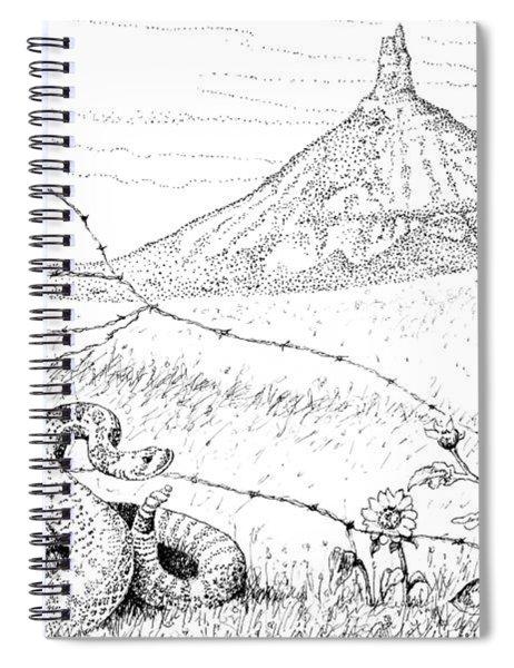 Prairie Rattler Spiral Notebook