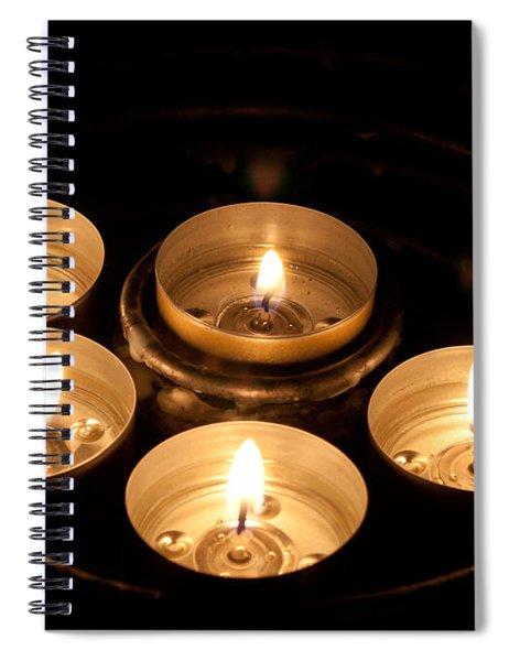 Prayer Candles In Notre Dame Spiral Notebook