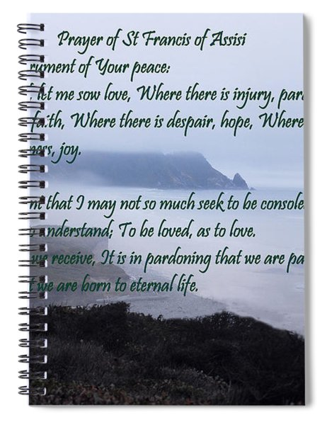 Prayer Of St Francis Of Assisi Spiral Notebook
