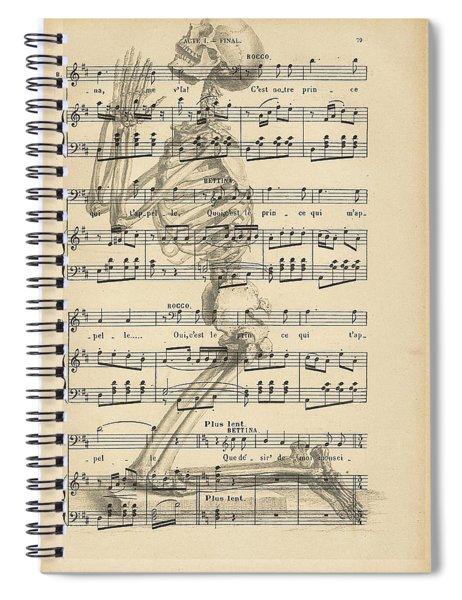 Praying Skeleton Spiral Notebook