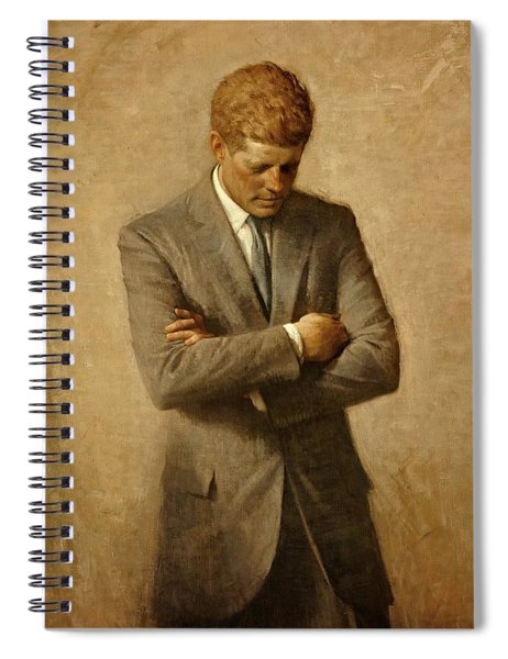 President John F. Kennedy Official Portrait By Aaron Shikler Spiral Notebook