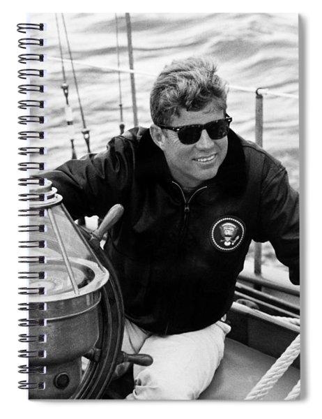 President John Kennedy Sailing Spiral Notebook