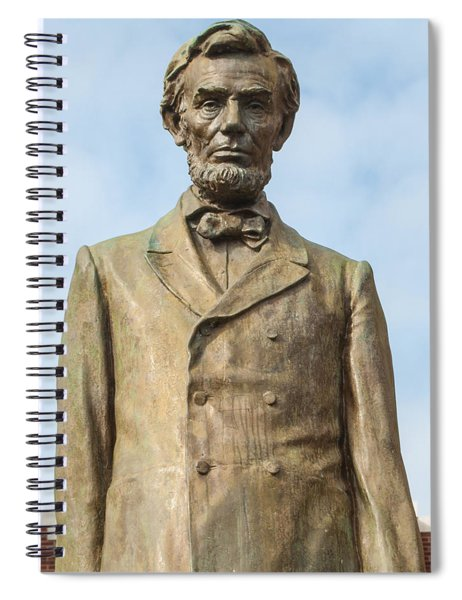 President Lincoln Statue Spiral Notebook