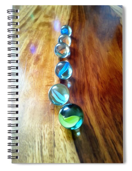 Pretty Marbles All In A Row Spiral Notebook