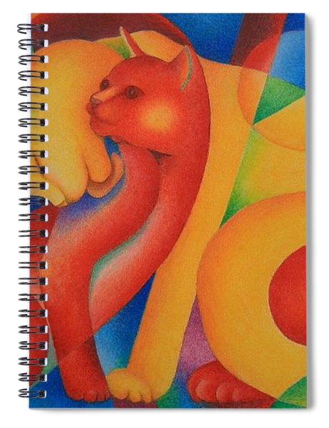 Primary Cats Spiral Notebook