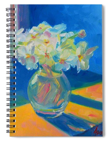 Primroses In Spring Light - Still Life Spiral Notebook